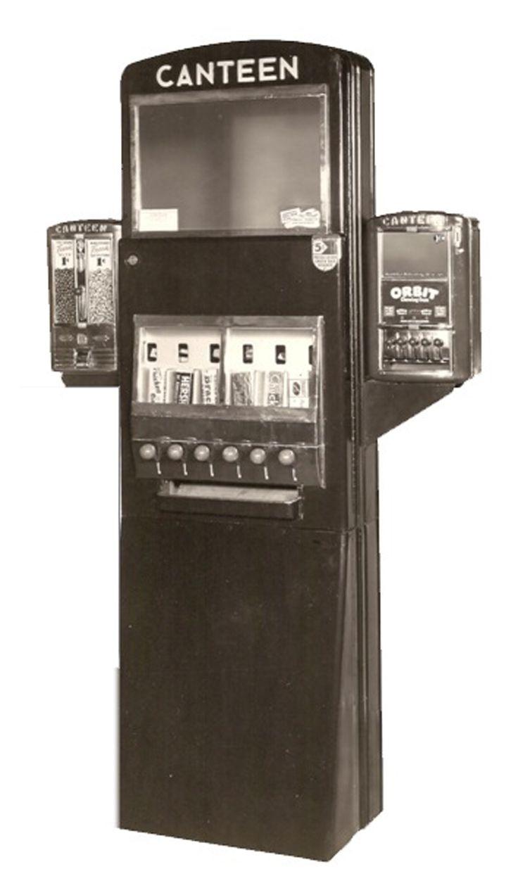 1940s Canteen Candy Machine Vintage Vending Pinterest