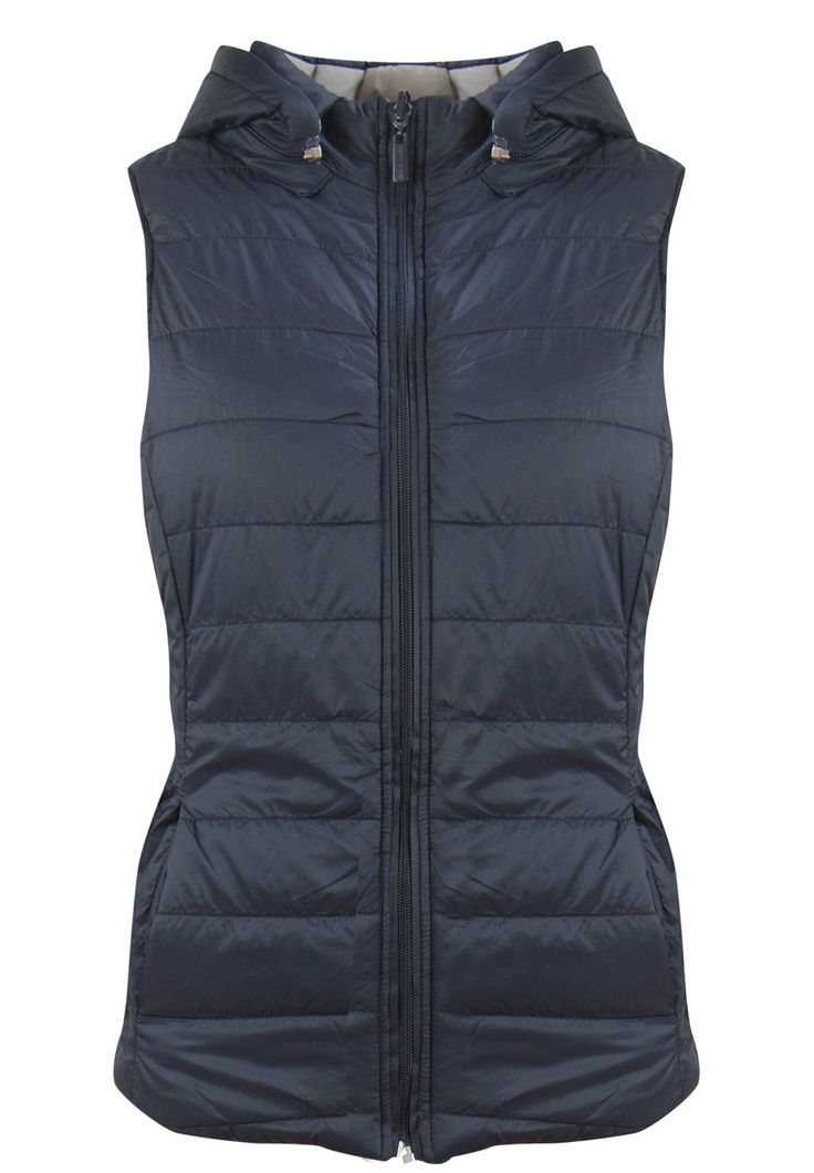 Betty Basics - - Zayn Reversible Puffer Vest In Charcoal Navy/Beige
