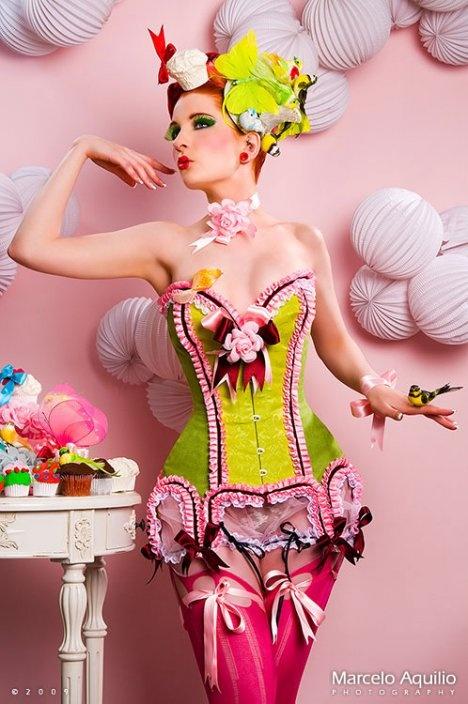 Wedding night ensemble?  : Fashion, Maya Hansen, Style, Color, Corsets, Burlesque, Costume, Pinup, Pin Up