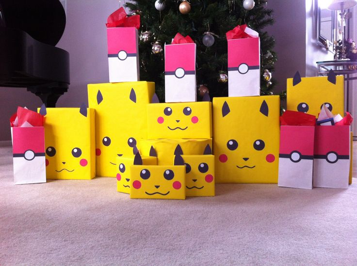 Our Pokemon Christmas wrapping theme!!