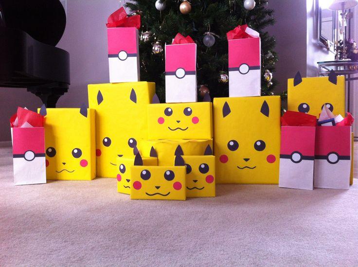 Our Pokemon Christmas wrapping theme!!