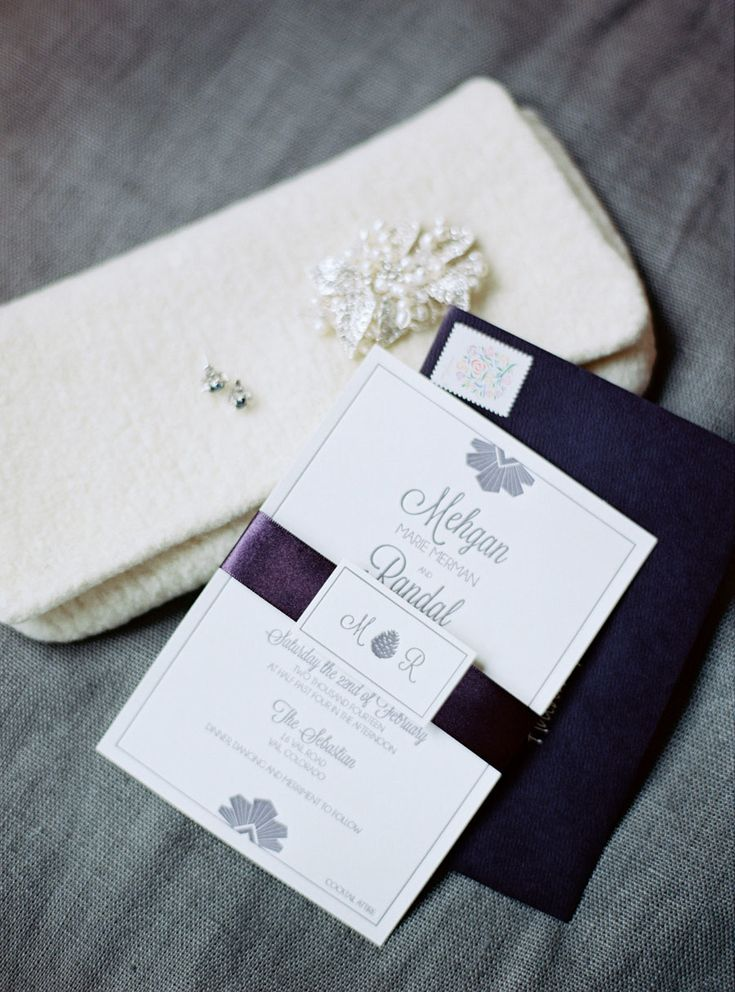 custom wedding invitations nashville%0A Elegant Winter Wedding in Vail at The Sebastian