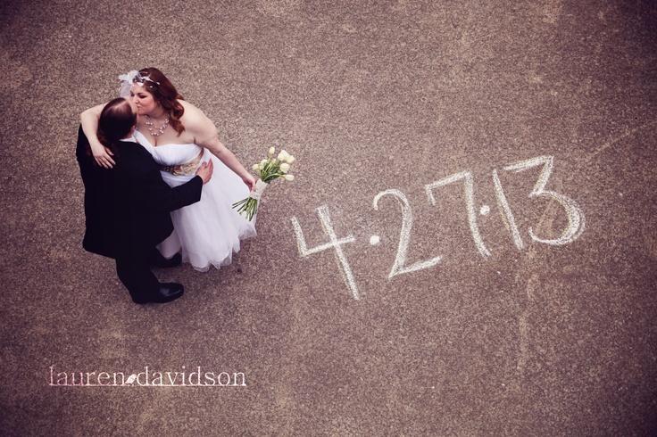 Vintage wedding - unique posing ideas. Wedding date in photo. Lauren Davidson Photography.