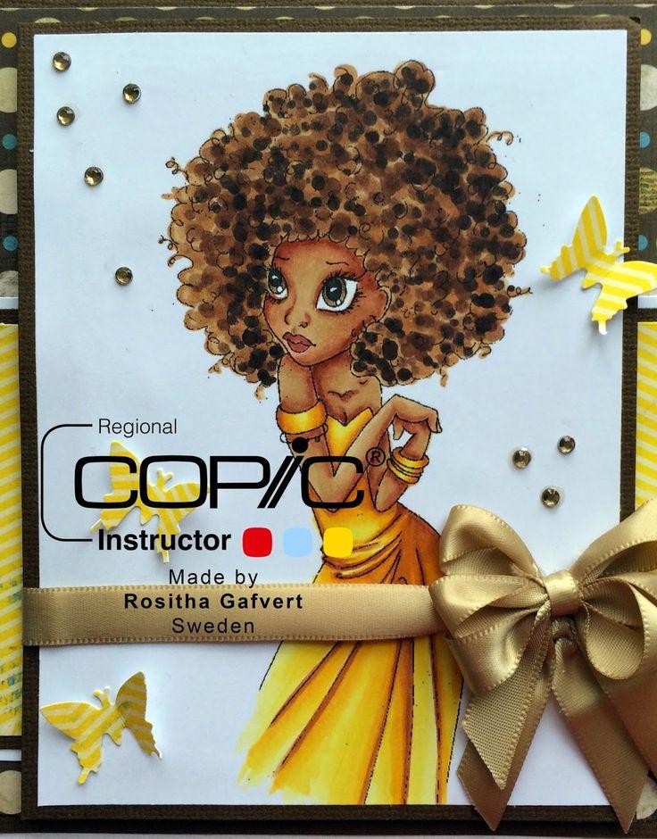 Copic Marker Europe: Dark hair and skin Hair: E31,34,35,57,59,49  Skin: E31,11,13,15 Eyes: E43,44 and lips: E08