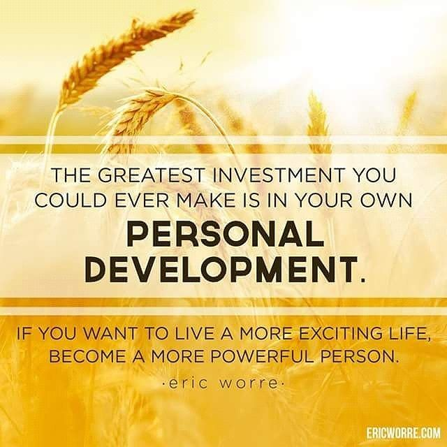 The greatest investment you could ever make is in your own personal development. If you want to live a more exciting life, become a more powerful person. ~Eric Worre #motivationalquotes #positivethinking #entrepreneurlife ◇ Double Tap if you like, Tag a friend who needs this and Follow me @leiaformore ☆☆☆☆☆☆☆☆☆☆☆☆☆☆☆☆☆☆☆☆ ◇ ◇ ◇