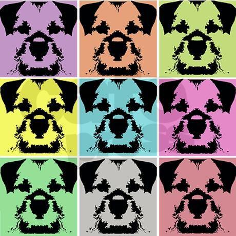Border Terrier a la Warhol Greeting Card on CafePress.com