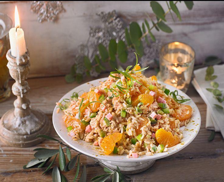 Reissalat mit Mandarinen