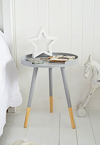 grey small bedside table more
