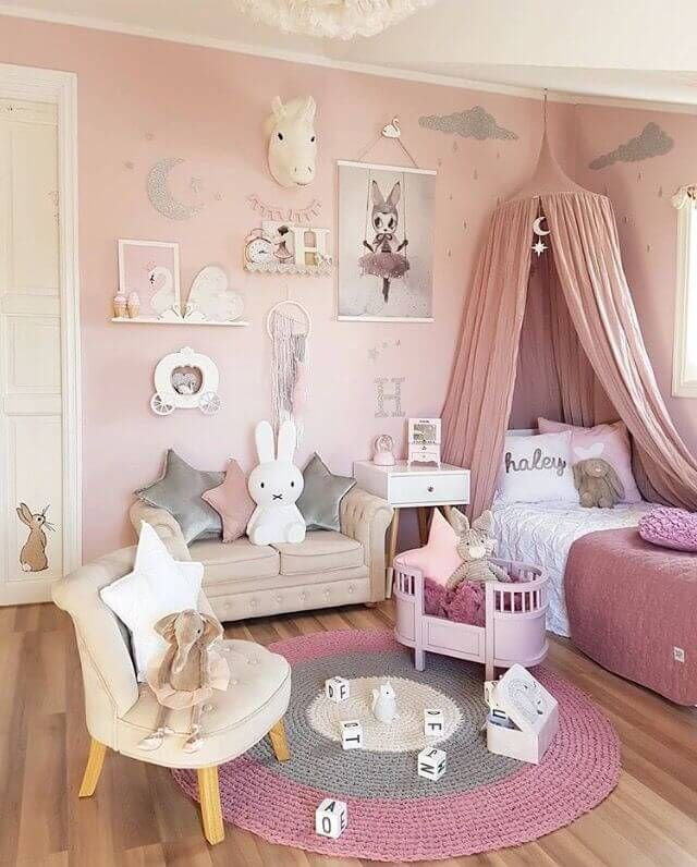 Turn Your Bedroom Into A Beautiful Blush Pink Bedroom Diy Girls Bedroom Girl Room Girls Bedroom Paint