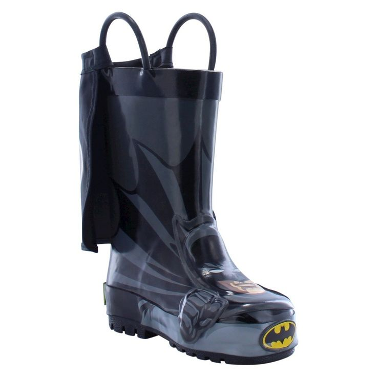 Batman Toddler Boys' Rain Boots - Black 10, Toddler Boy's