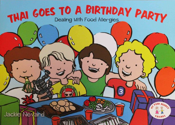 Thai Goes to a Birthday Party is a lovely colourful book about staying safe with allergies at a birthday party.