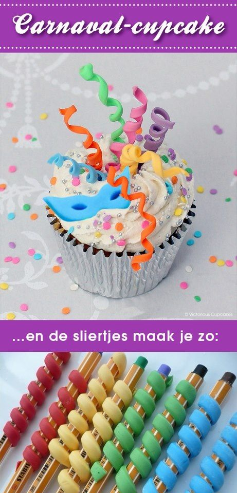 Leuke cupcake carnaval