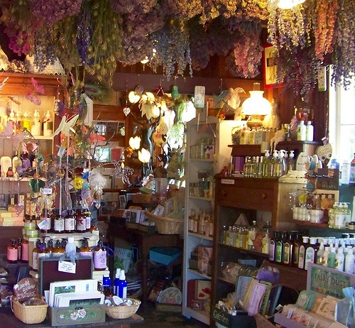 Inside Heart's Ease Herb Shop.