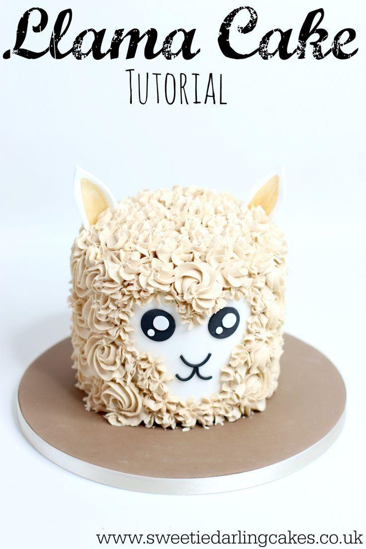 Pleasing Llama Cake Tutorial So Cute Cake Animal Cakes Cake Decorating Funny Birthday Cards Online Inifodamsfinfo