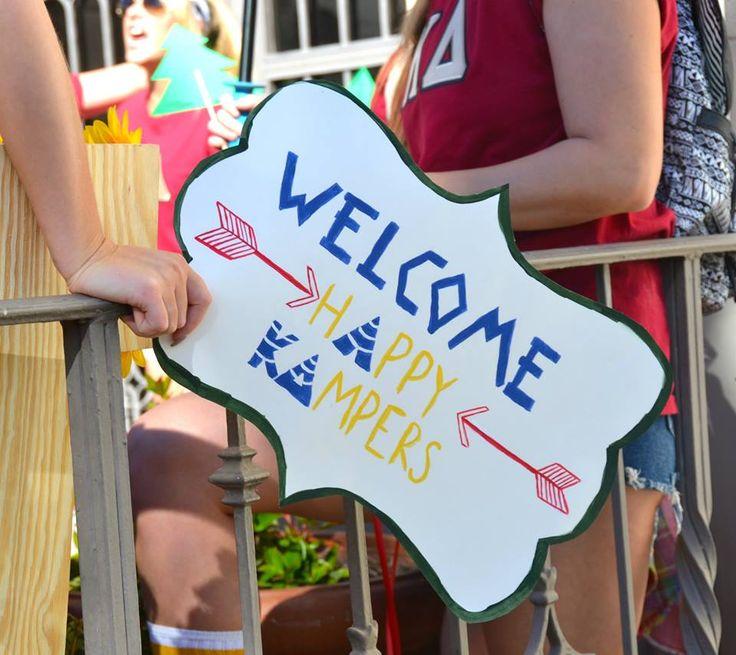 Camp KD themed Bid Day
