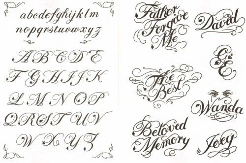 Cursive script tattoospace social networking for tattoo for Cursive script tattoo fonts
