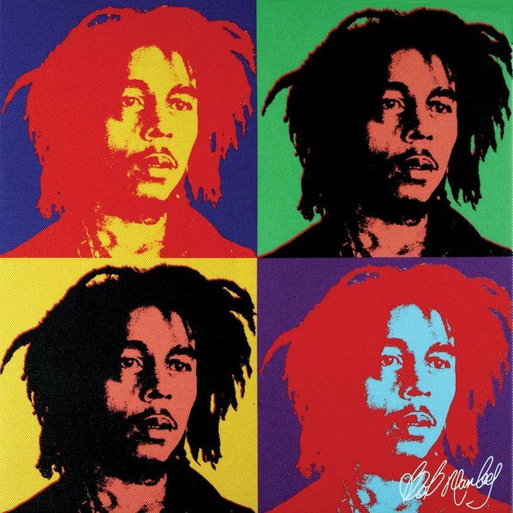 Bob Marley - Warhol Small Canvas Print