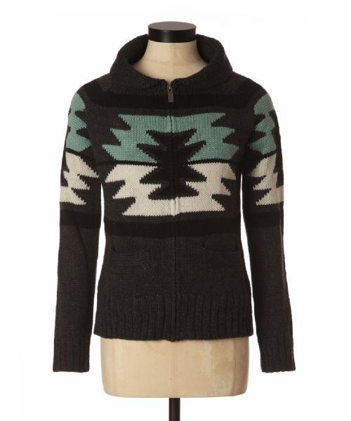 bootlegger.com : kismet ellen aztec print thick knit sweater