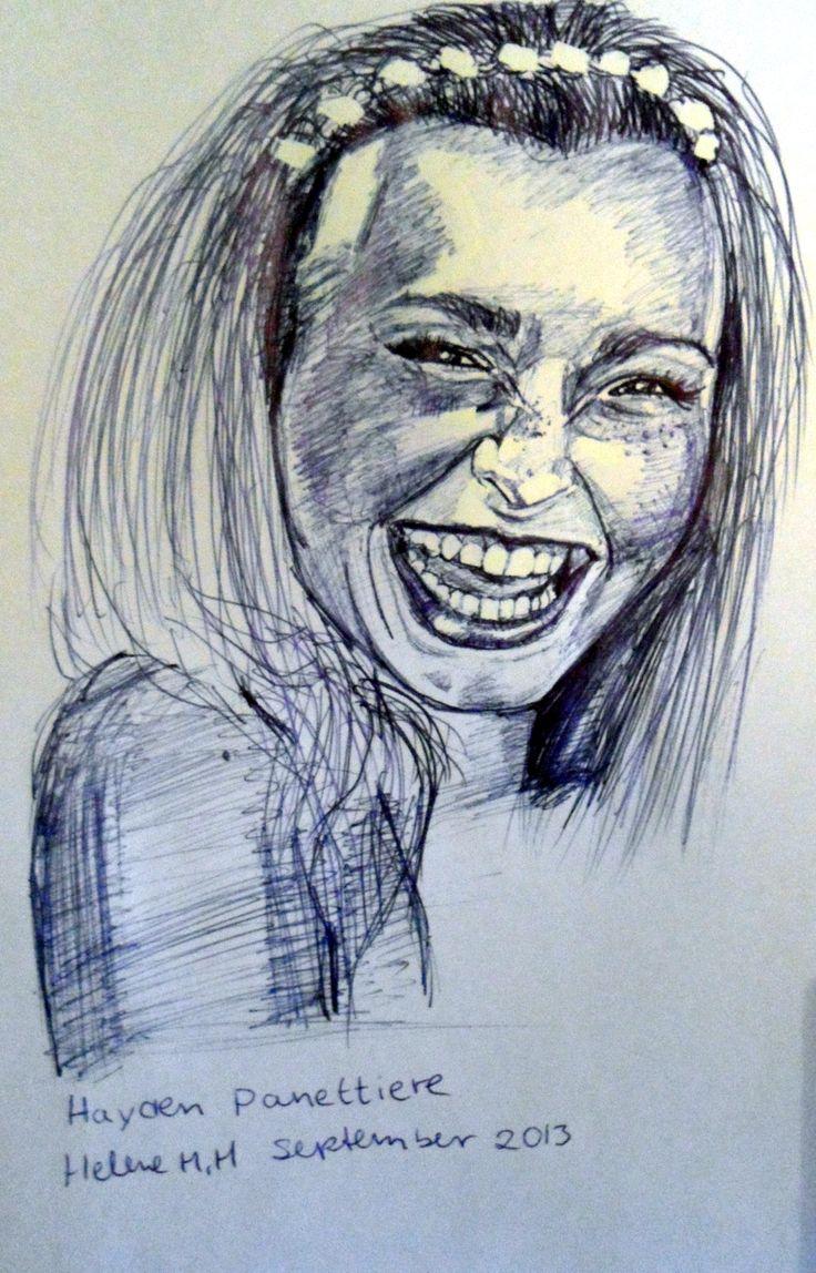 Drawn with ballpoint pen Helene H. Hagen