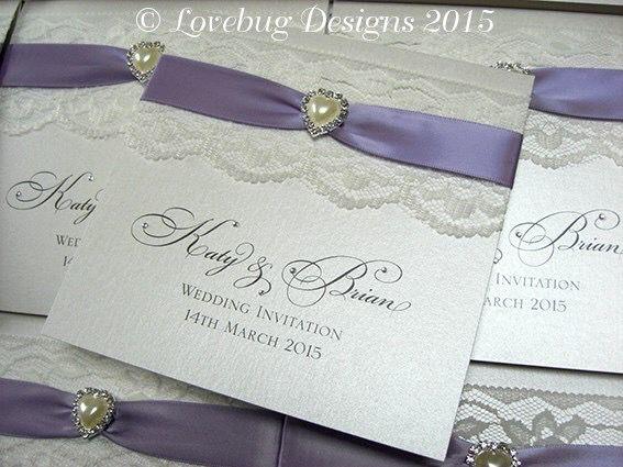 Finest 73 best Lavender/Lilac/Periwinkie Color Wedding Invitations images  QY78