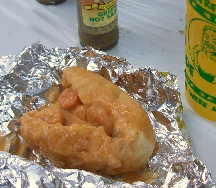 cajun pistols...a roll filled with gooey cheese and shrimp and yumminess! SOOO GOOOOD!!
