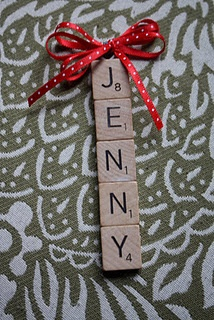 DIY Scrabble Ornament - cute, represent the whole family on the tree, even those who are no longer with us.