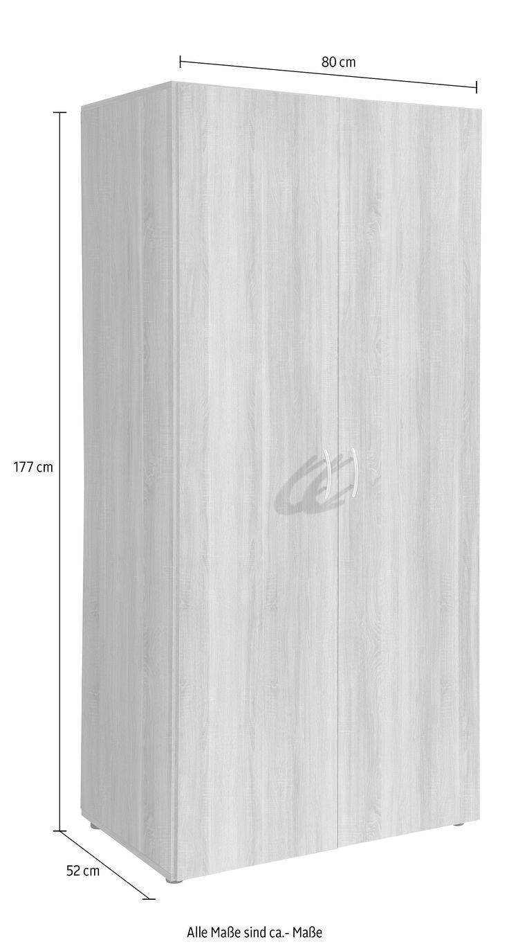 kleiderschrank raquo base laquo weiss material kunststoff metall