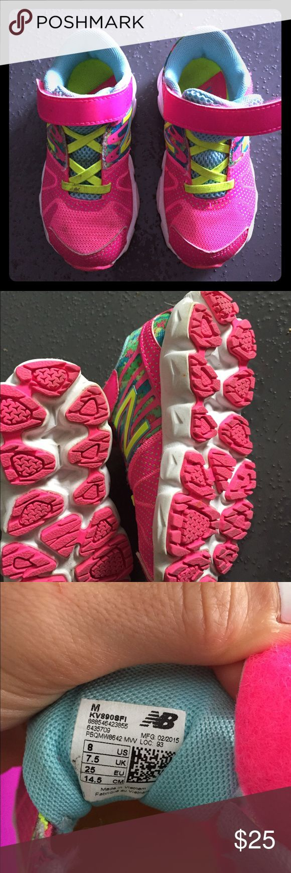 Toddler New Balance Gym Shoes Worn twice.  Toddler New Balance Gym shoes. Easy to get on and super cute! New Balance Shoes