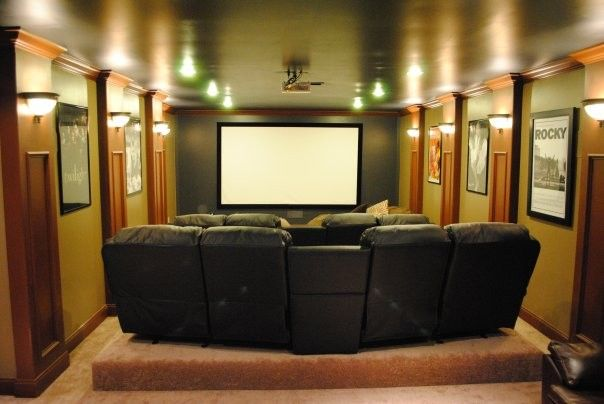 1000 images about small home theater on pinterest small home theaters small rooms and. Black Bedroom Furniture Sets. Home Design Ideas