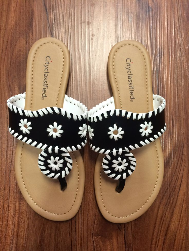 Jack Inspired Sandal - Black/White from Chocolate Shoe Boutique
