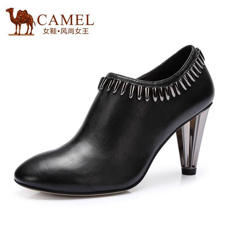 CAMEL black zipper chains sexy high heel