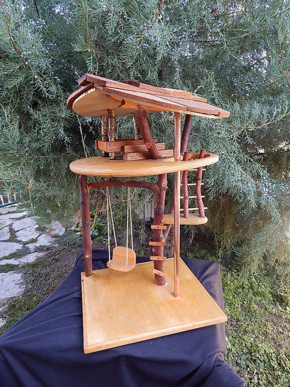 Doll toy treehouse