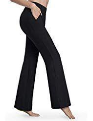 Bamans Bootcut Yogahose für Damen Schlaghose Stre…