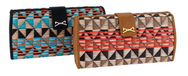 TRIBAL MOTIF COLORFUL WOVEN CLUTCH BAG