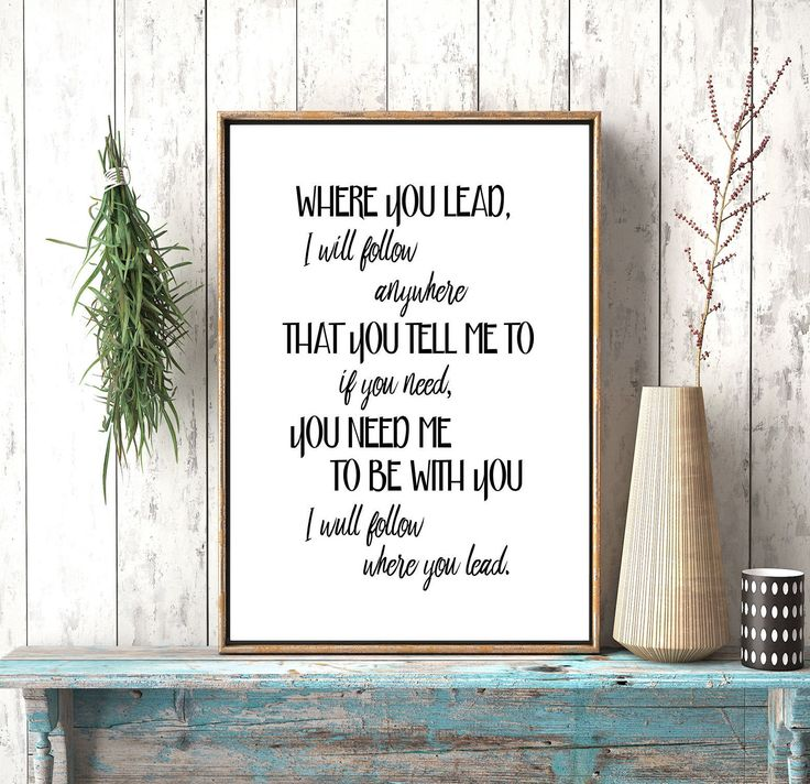 Where You Lead I Will Follow, Gilmore Girls Poster,Gilmore Girls Printable Art,Quote Printables,Theme Song, Carole King, Lyrics,stars hollow by photoplasticon on Etsy