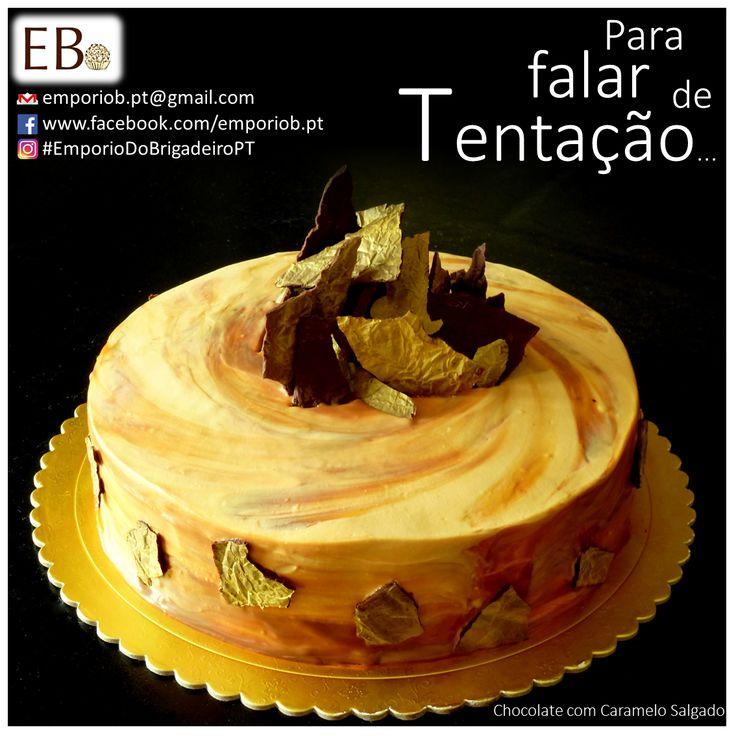 Bolo de Chocolate com Mousse de Caramelo Salgado - Empório do Brigadeiro #EmporioDoBrigadeiroPT