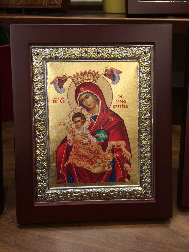 A personal favourite from my Etsy shop https://www.etsy.com/listing/478143160/our-lady-theotokos-byzantine-icon