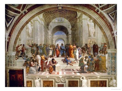 School of Athens, circa 1510-1512, One of the Murals Raphael Painted for Pope Julius II  by Raphael