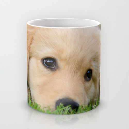 Golden Retriever puppy, cute dog Mug by Katho Menden   Society6