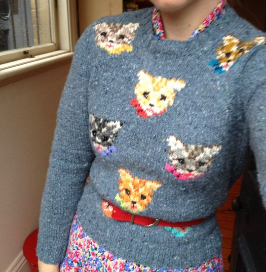 Knitting Pattern Jumper For Cat : 17 Best images about Cat Knits Sweaters on Pinterest Cute cats, Ravelry and...
