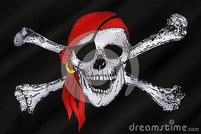 Skull and Crossbones Flag - Jolly Roger Editorial Image