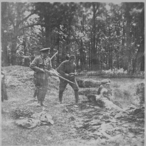 The Einsatzgruppen in action.