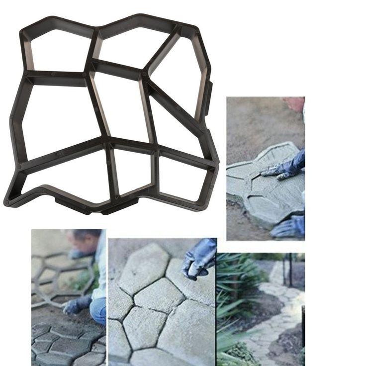 2016 1 Unids DIY Manualmente Pavimentación Camino De Plástico Fabricante de Moldes/Moldes De Ladrillos De Cemento El Camino de Piedra Herramientas Auxiliares Para Decoración del jardín(China (Mainland))