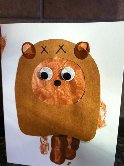 May the 4th has been dubbed as Star Wars day. If you have a Star Wars fan in your family, try these cute and cuddly Ewoks with your own handprint! Or check out the list of other Star Wars crafts following the article. May the 4th be with you!