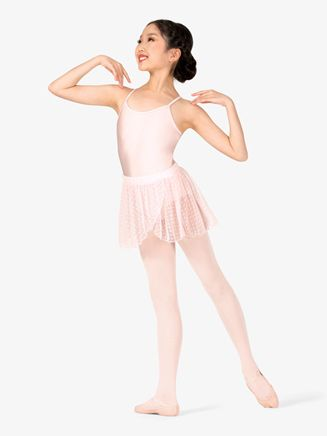 c95b73be3a8a Girls Heart Mesh Mock Wrap Pull-On Ballet Skirt