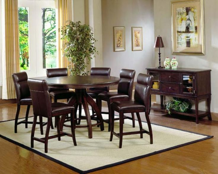 Lowest Price Online On All Hillsdale Nottingham Round Counter Height Dining Set In Espresso