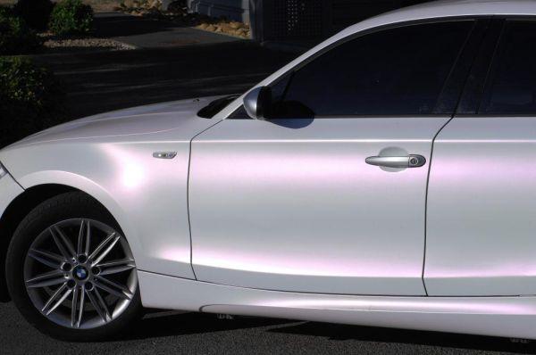 Hexis white pearl gloss vinyl car wrap @Chelsea_xoxo