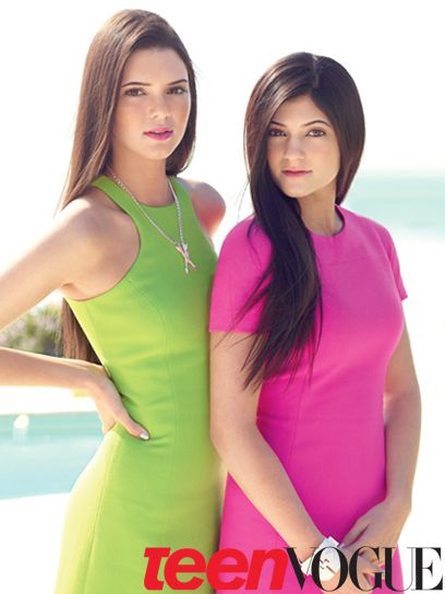 Kendall and Kylie Jenner are our March 2012 cover stars!  Kendall wears a Michael Kors dress. Eddie Borgo necklace. Kylie wears a Michael Kors dress.
