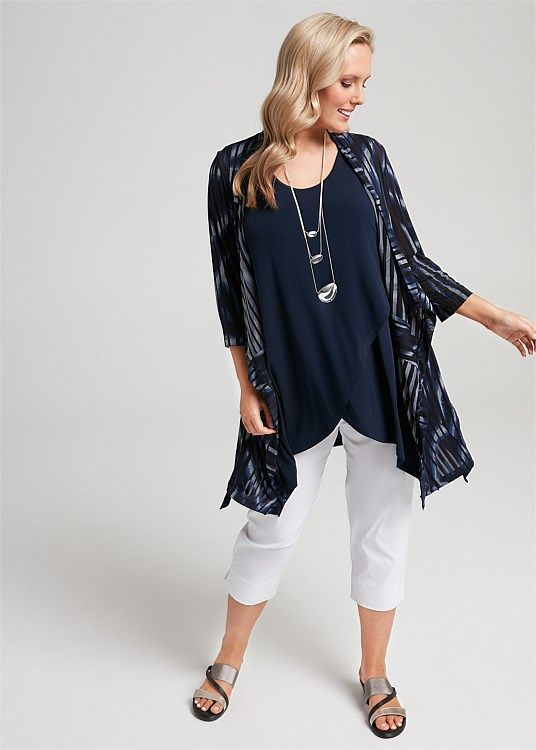 Into The Blue Cardi #takingshape #plussize #curvy #ts