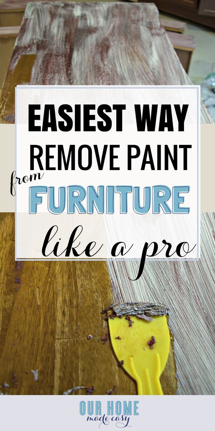 Here is how to easily remove paint from wood furniture! It's a classic, but goodie! #furnituremakeover #paintedfurniture